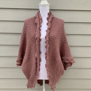 Anthropologie Sweaters - Anthropologie Moth Mauve Pink Knit Cardigan